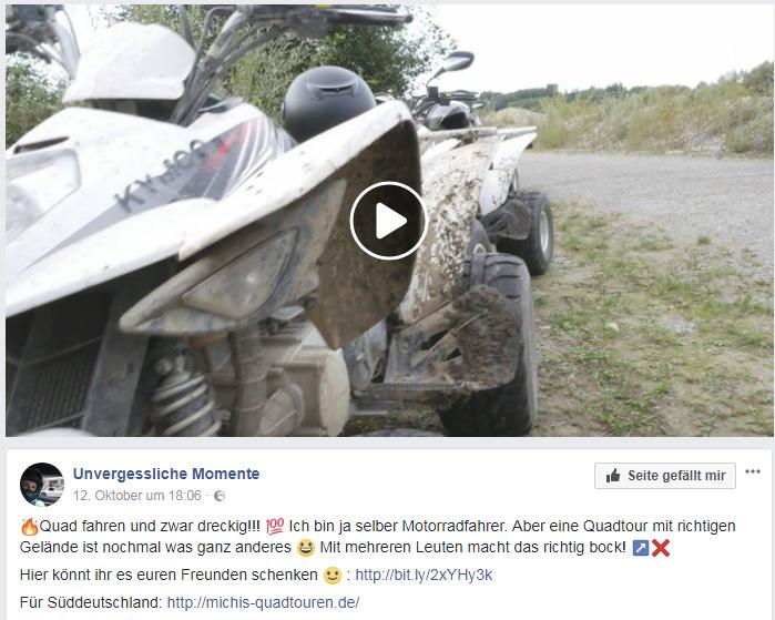 Videoreferenz Michis Quadtouren Video Facebook